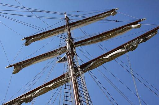 Rigging, Boat Mast, Sailing Vessel