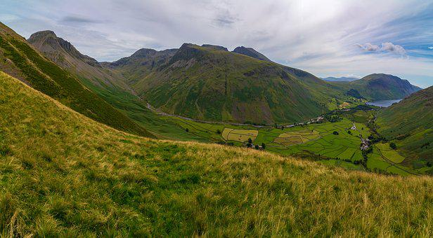 Lake District, Mountain, Skafell Pike, Landscape
