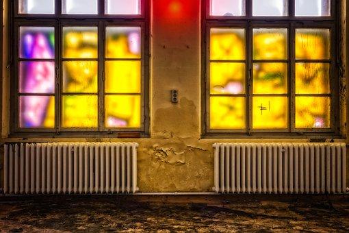 Space, Room, Window, Graffiti, Empty, Old, Atmosphere