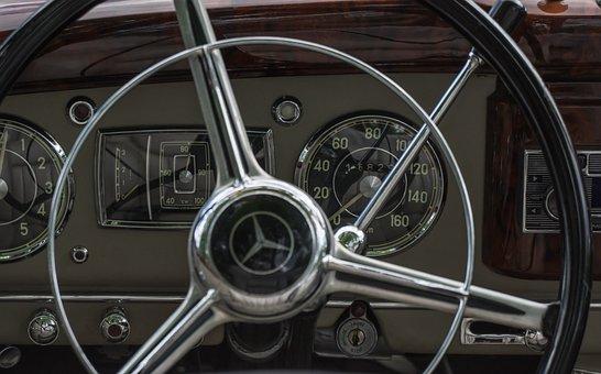 Automotive, Cockpit, Mercedes, Dashboard, Speedometer