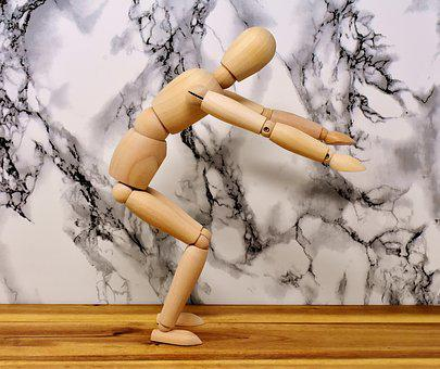Articulated Doll, Mobile, Doll, Sport, Funny, Holzfigur
