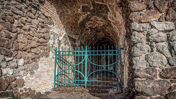 Stone, Old, Architecture, Brick, Crypt, Closed, Input
