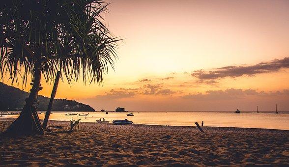 Sunset, Beach, Waters, Sun, Sea, Phuket, Thailand
