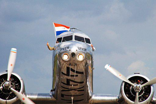 Plane, Transport, Travel, Motor, Uiver, Douglas Dc 3