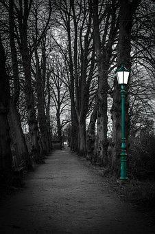 Lantern, Twilight, Lighting, Away, Avenue, Gloomy