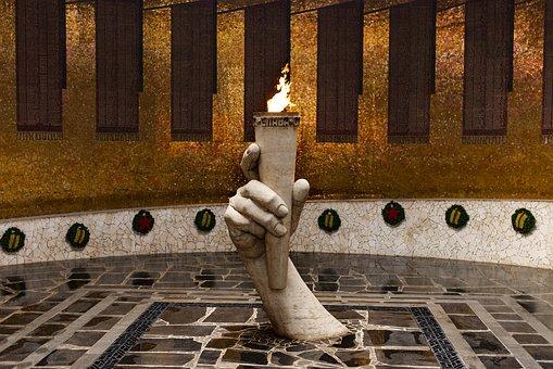 Volgograd, Stalingrad Metro Station, The Eternal Flame