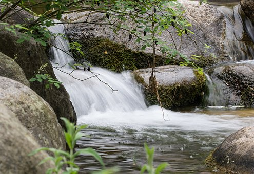 Waters, River, Waterfall, Nature, Landscape, Flow
