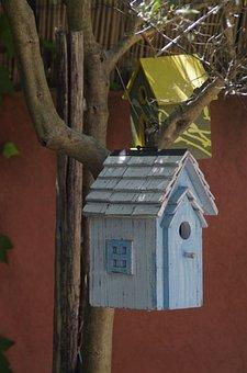 Birdhouse, House, Wood, Family
