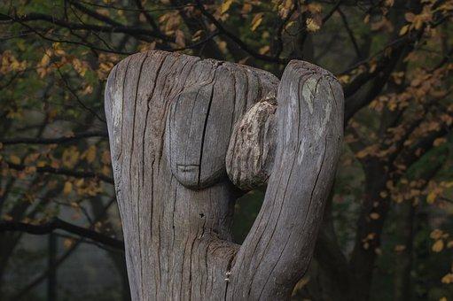 Wood, Figure, Wood Plastic, Old, Weathered, Woods