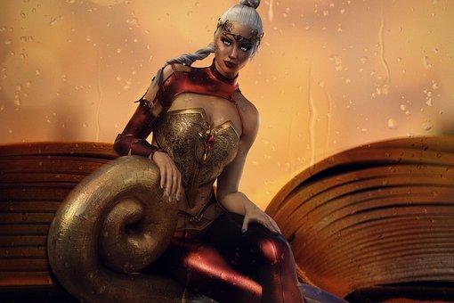 Book, Fantasy, Book Cover, Woman, Art, Warriorgirl