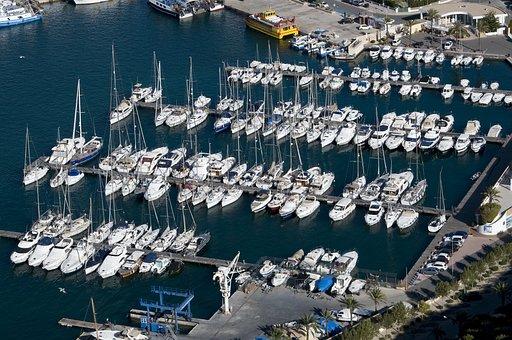 Harbour, Calpe, Marina, Boats, Yachts, Sailing Boats