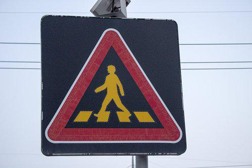 Caution, Signs, Pedestrian Of The Week, Traffic Signs