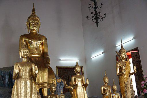 Golden, Buddha, Religion, Travel, Statue, Temple