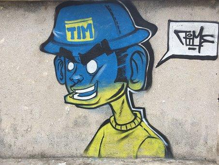 Street, Graffiti, Pavement, Art