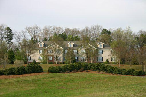 Home, Architecture, House, Tree, Grass, Lawn, Building
