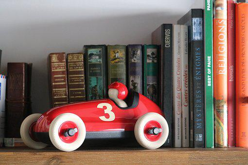 Library, Shelf, Book, Education, Literature, Car, Child