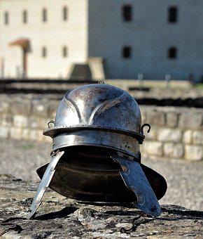 Helm, Military, Protection, Old, Equipment, Building