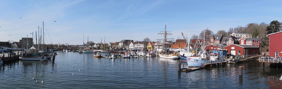 Waters, Panorama, Panoramic Image, Boot, Port