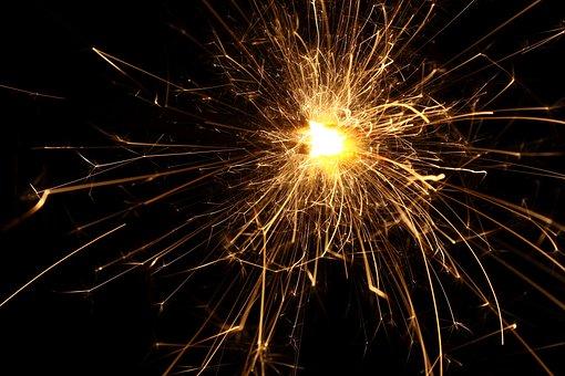 Fireworks, Flame, Sparking, Celebration, Sparkler