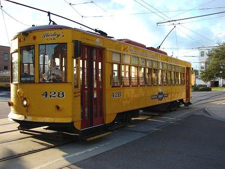 Streetcar, Tram, Cable Car, Transportation, Public