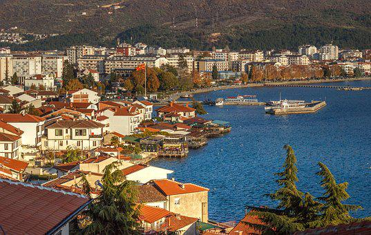 Ohrid Town, City, Harbor, Lake, Water, Travel, Tourism