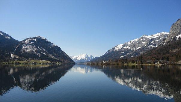 Nature, Snow, Panorama, Mountain, Waters, Lake, Styria