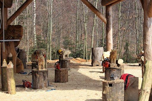 Wood, Building, Woods, Workshop, Rustic, Exhibition