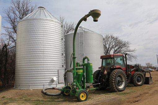 Farm, Bin, Vacuum, Agriculture, Rural, Farming, Grain