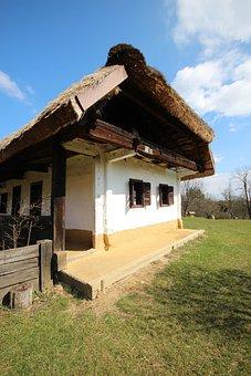 House, Architecture, Village, Folk, Spring, Grass, Sky