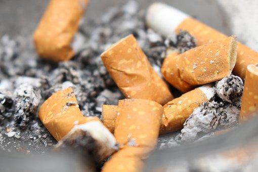 Cigarettes, Ash, Stub, Cigarette End, Ashtray, Tilt