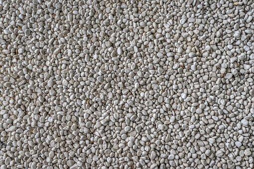 Stone, Gravel, White, Pattern, Texture, Background