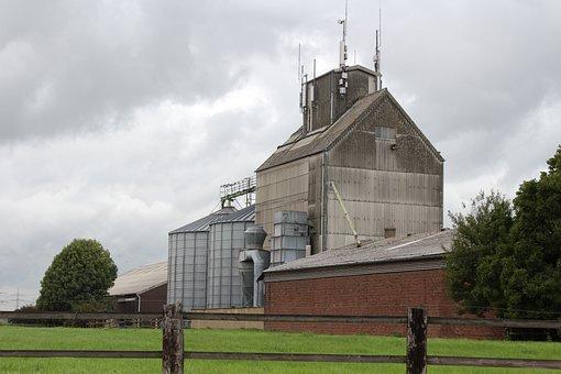 Silo, Farm, Bauer, Farmer, Agriculture, Field, Green