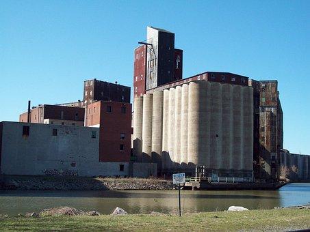 American Grain Complex, Buffalo, Grain, Silos, Storage
