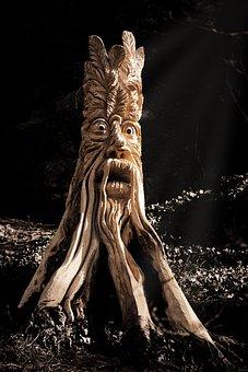 Art, Carved, Carving, Face, Log, Sculpture, Statue