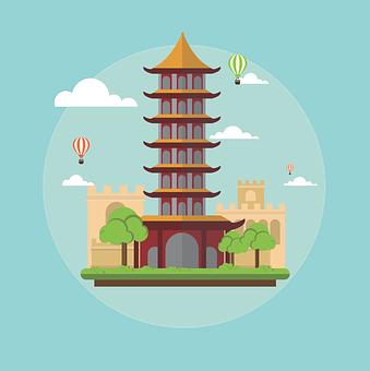 China, Landmark, Landscape, Chinese, Architecture