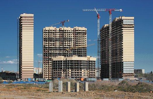 Construction, House, Crane, City, Home Construction