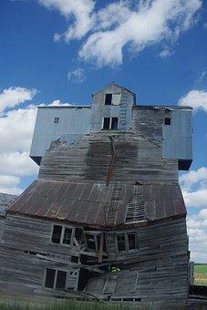 Grain, Elevator, Decrepit, Farm, Storage, Granary