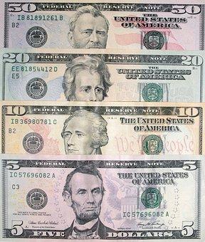 Dollars, Dollar Bills, Banknotes, Money