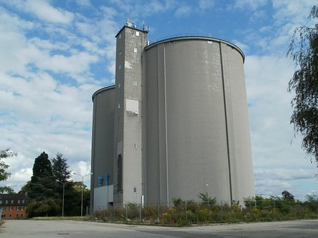 Sugar, Factory, Waghaeusel, Silo, Storage, Industry
