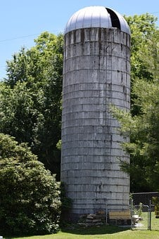 Farm, Silo, Corn, Harvest, Country, Rural, Agriculture
