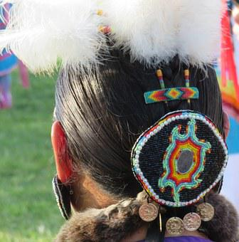 First Nation, Headdress, Feather, Beads, Indian