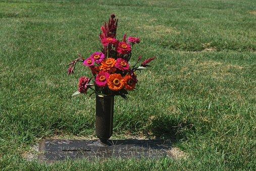 Grave, Flower, Urn, Cemetery, Death, Dead, Graveyard
