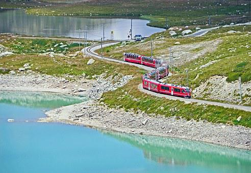 Bernina Pass, Bernina, Graubünden, Switzerland, Pass