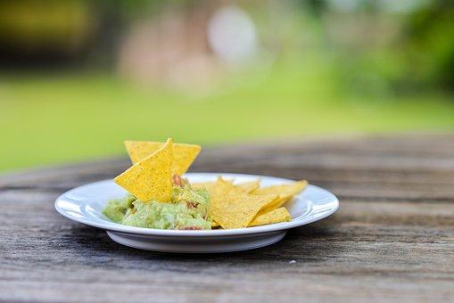 Snack, Nachos, Guacamole, Mexican, Food, Meal