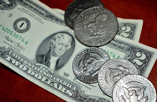 Money, Cash, Usd, Two Dollar Bill, Half Dollar
