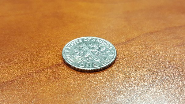 Dime, Coin, Money, Currency, Cents, Usa, America, Usd