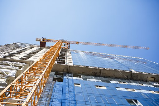 Construction, Crane, Jib Crane, Building, New House