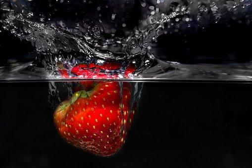Strawberry, Plunge, Fresh, Nutrition, Food, Diet, Fruit