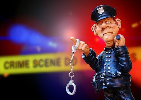 Police, Crime Scene, Blue Light, Discovery, Handcuffs
