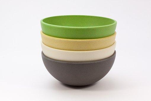 Shell, Bowl, Natural Material, Rice, Bamboo